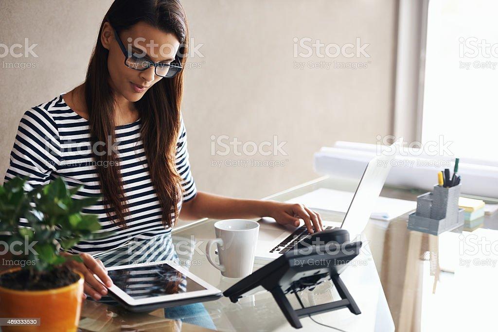 Doing business digitally stock photo
