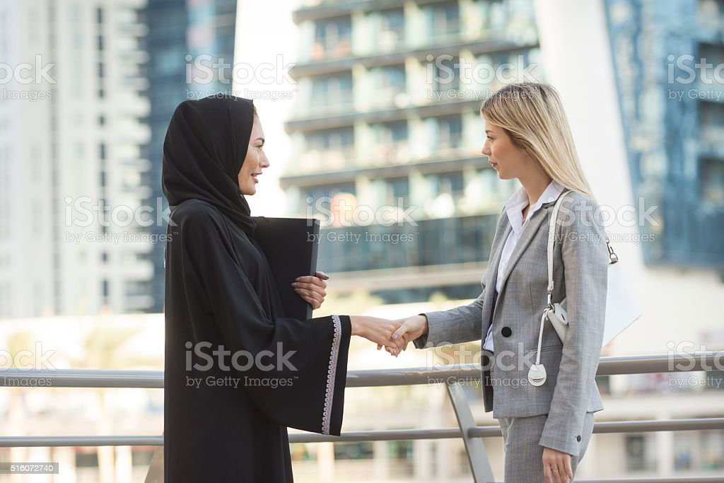 Doing business in Gulf States stock photo