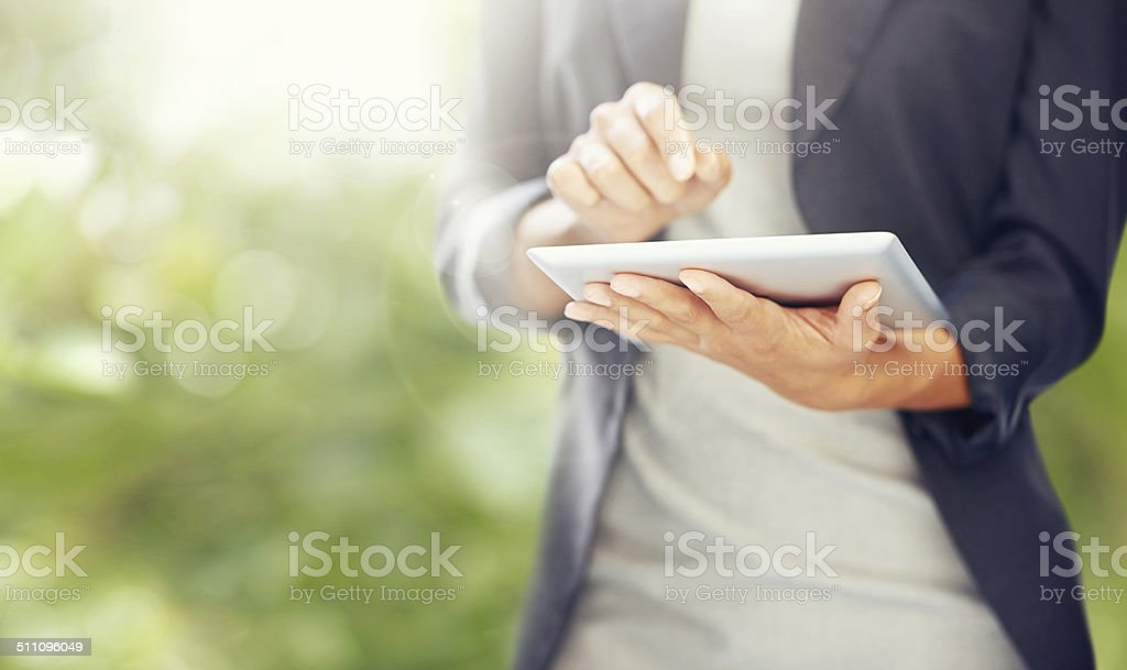 Doing business the modern way stock photo