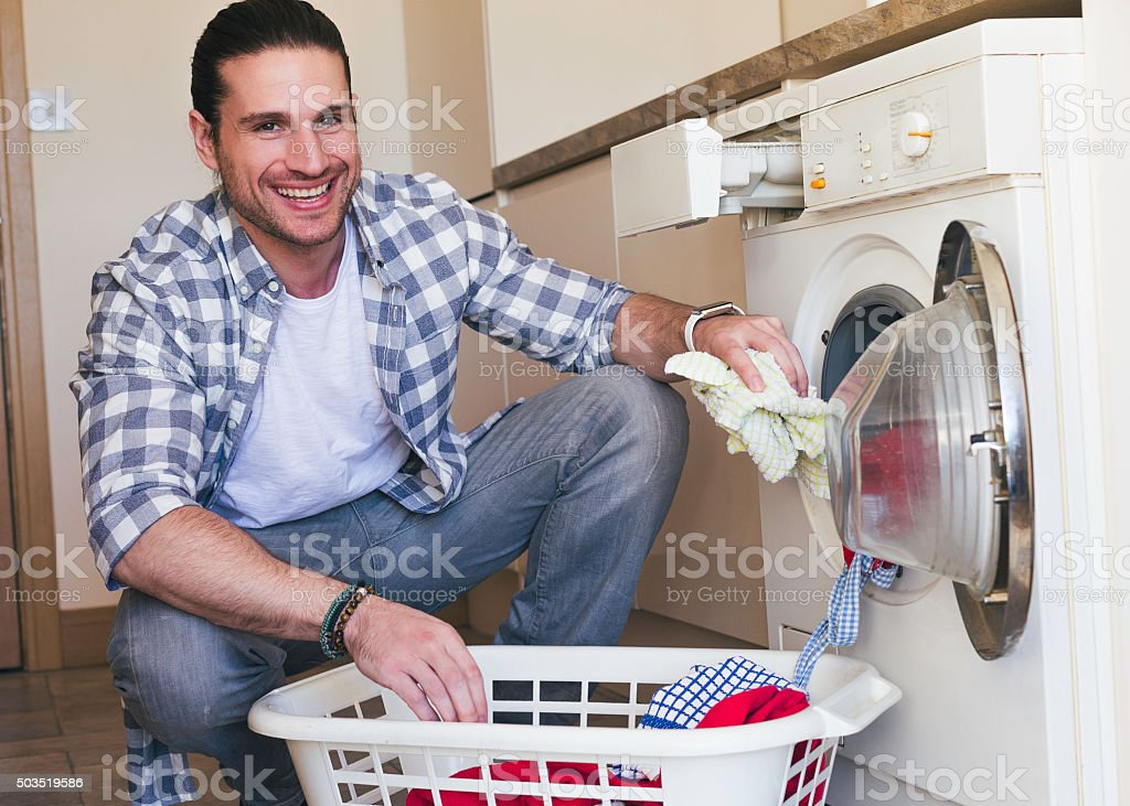 Doing Chores at Home stock photo