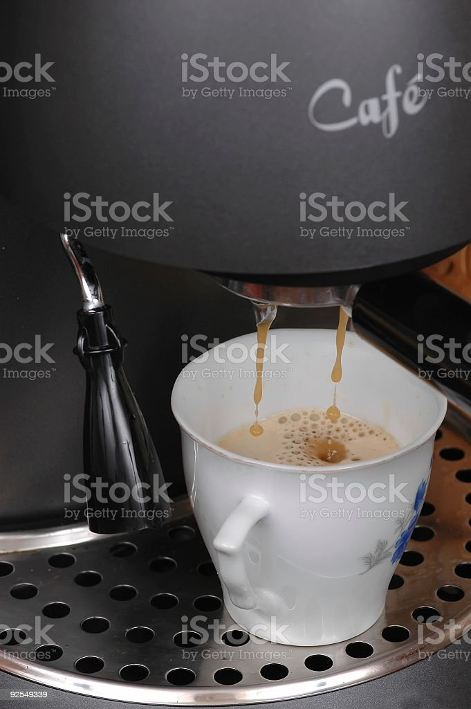 Doing coffee royalty-free stock photo