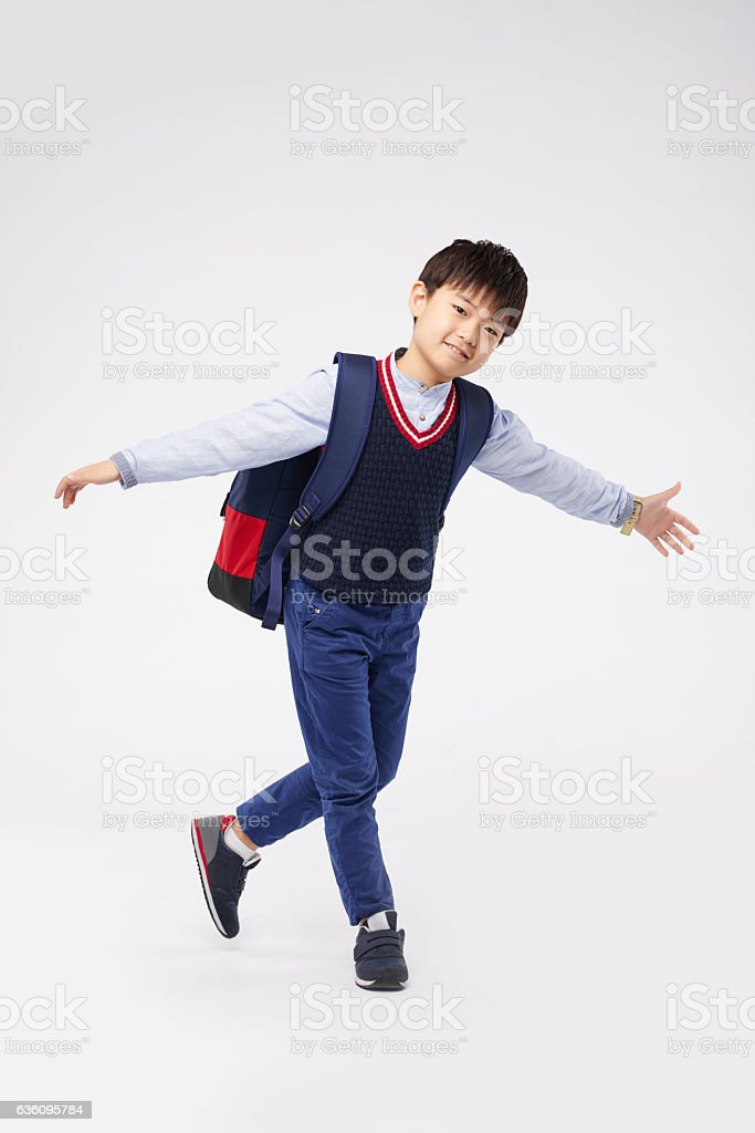 Doing curtsey stock photo
