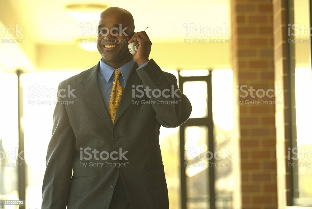 doing deals on the cell royalty-free stock photo