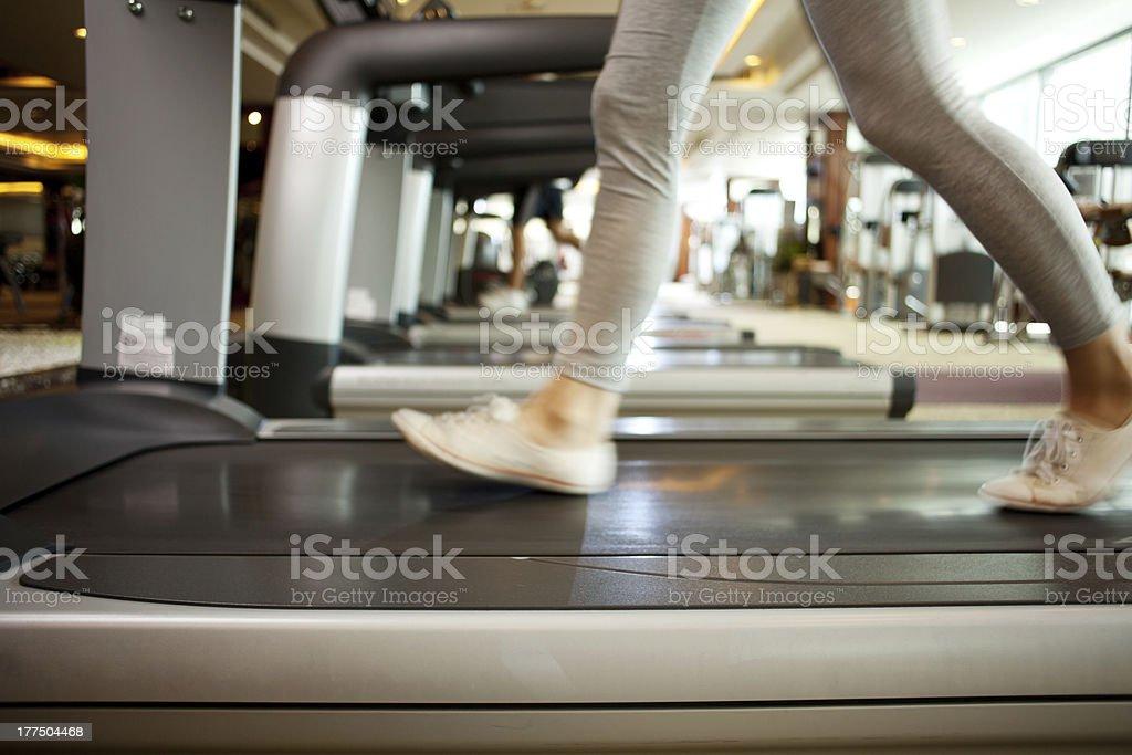 Doing exercise stock photo