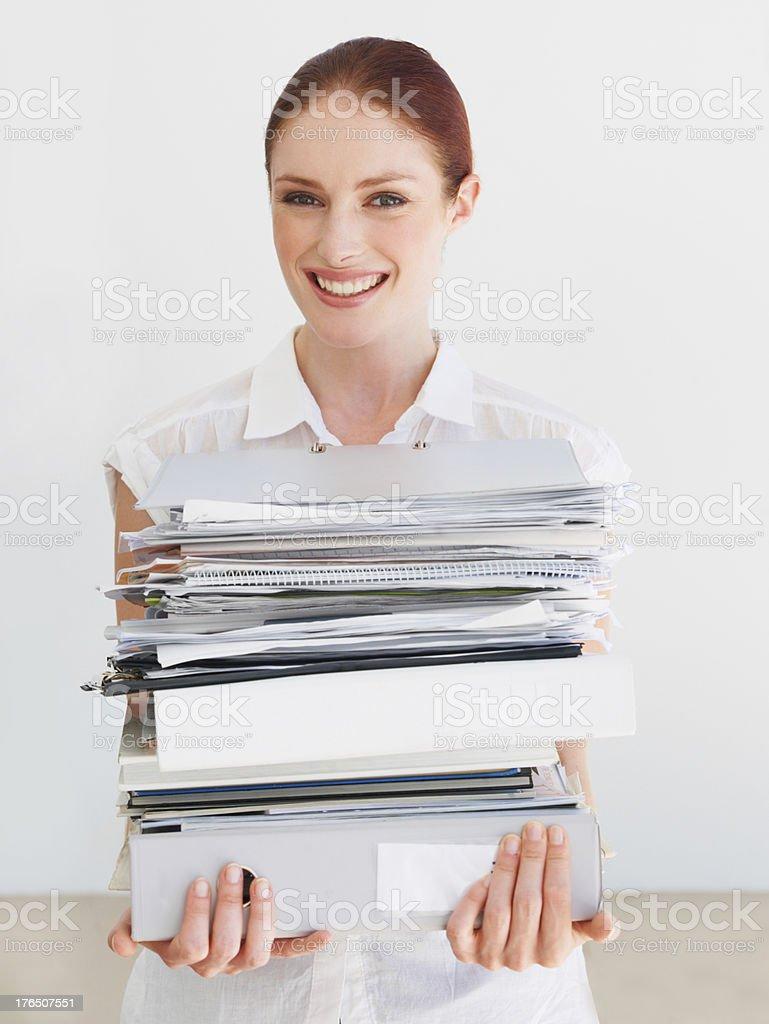 Doing her Masters via correspondence royalty-free stock photo