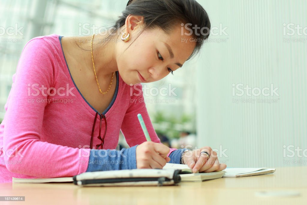doing home work royalty-free stock photo