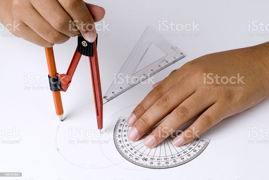 Doing homework royalty-free stock photo