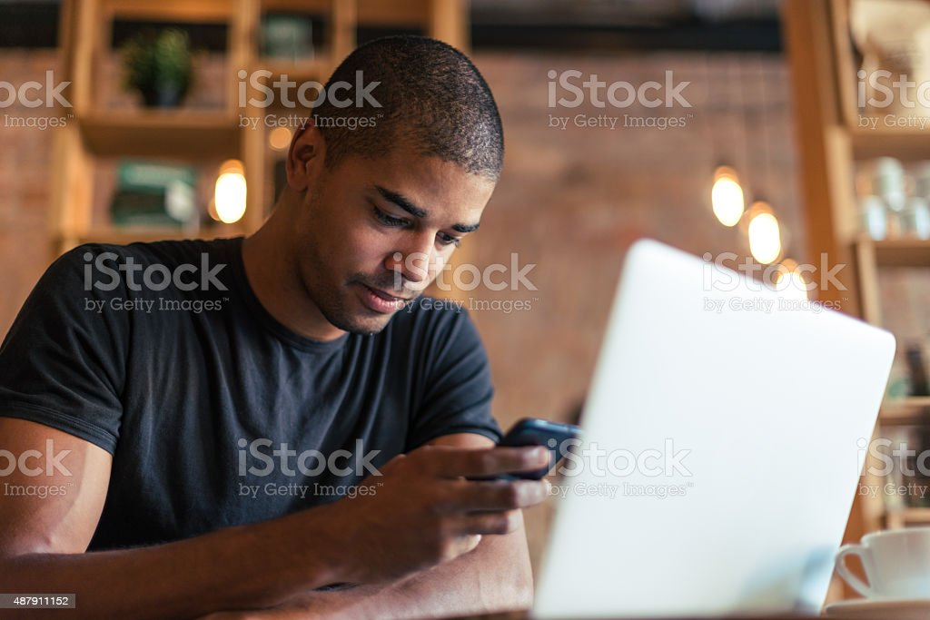 Doing it all at once stock photo