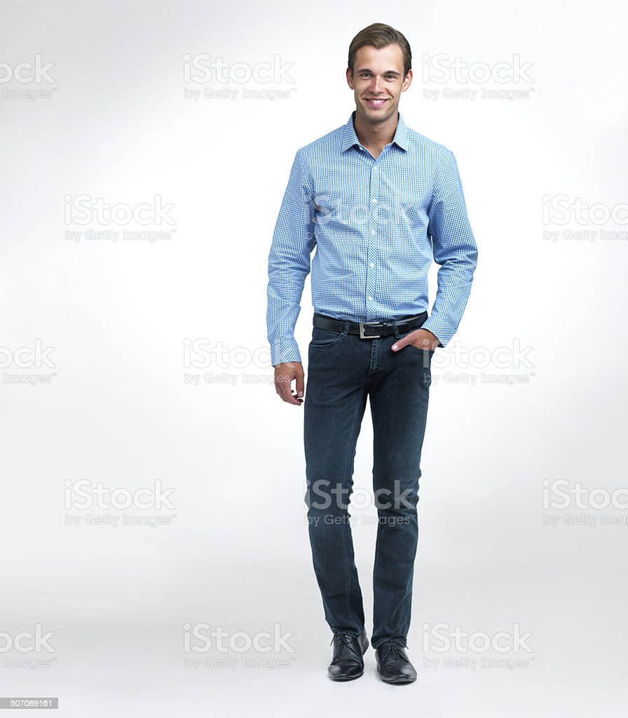 Doing it smart-casual stock photo
