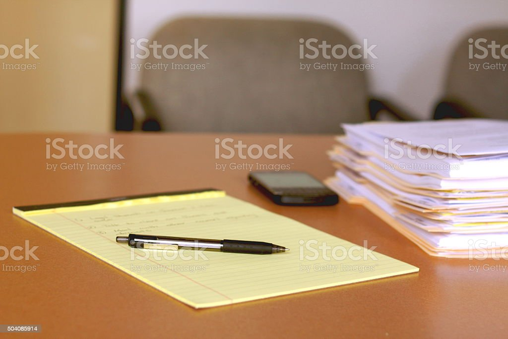 Doing Legal Work stock photo