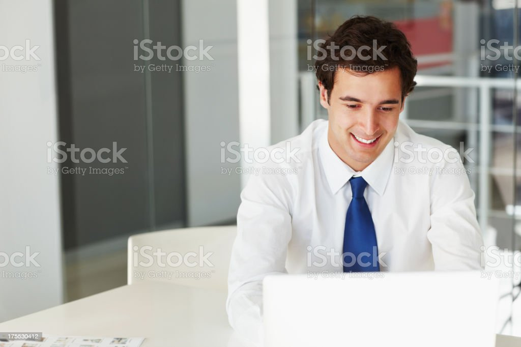 Doing my best work royalty-free stock photo