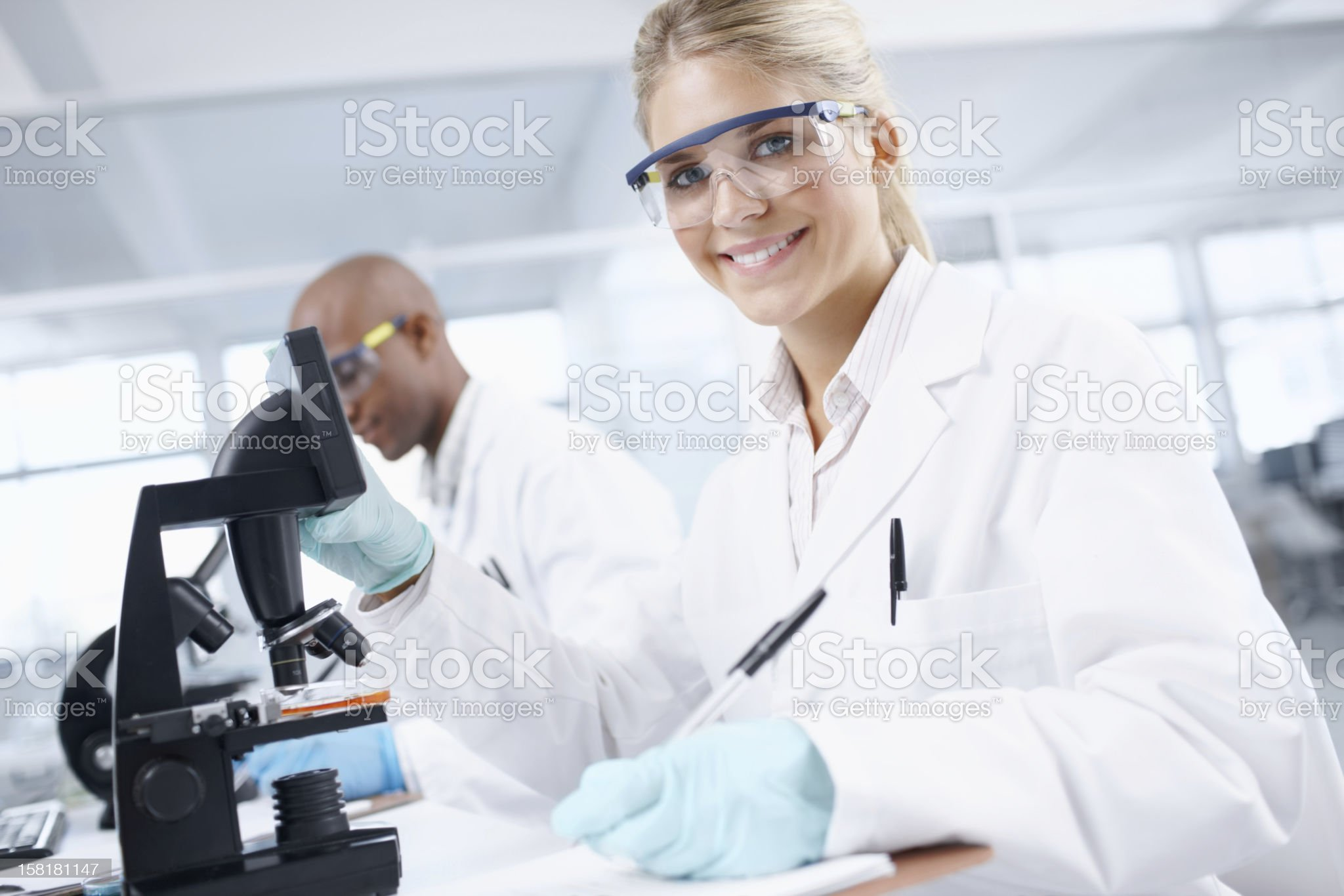 Doing research to gain knowledge royalty-free stock photo