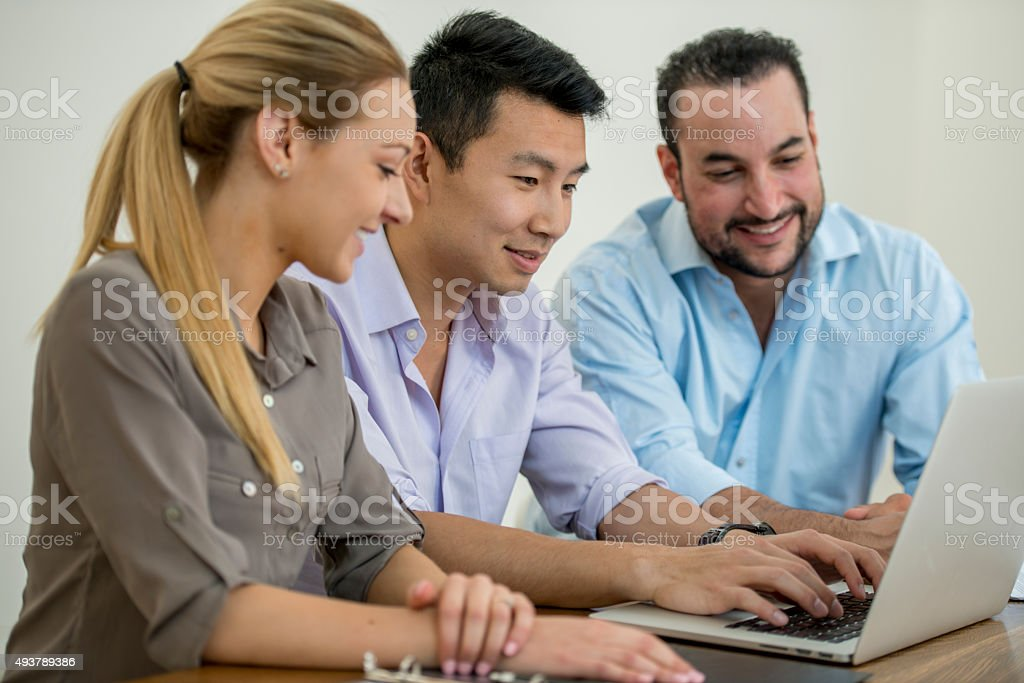 Doing Reserach for a Client stock photo