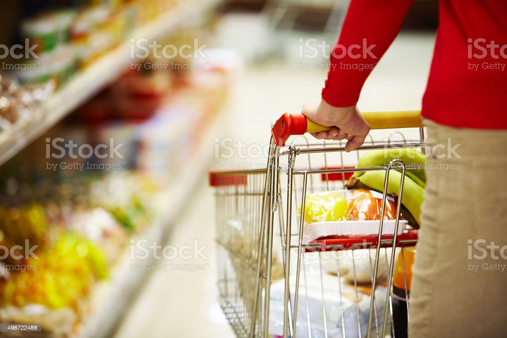 Doing shopping stock photo