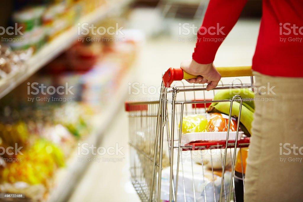 Doing shopping stock photo