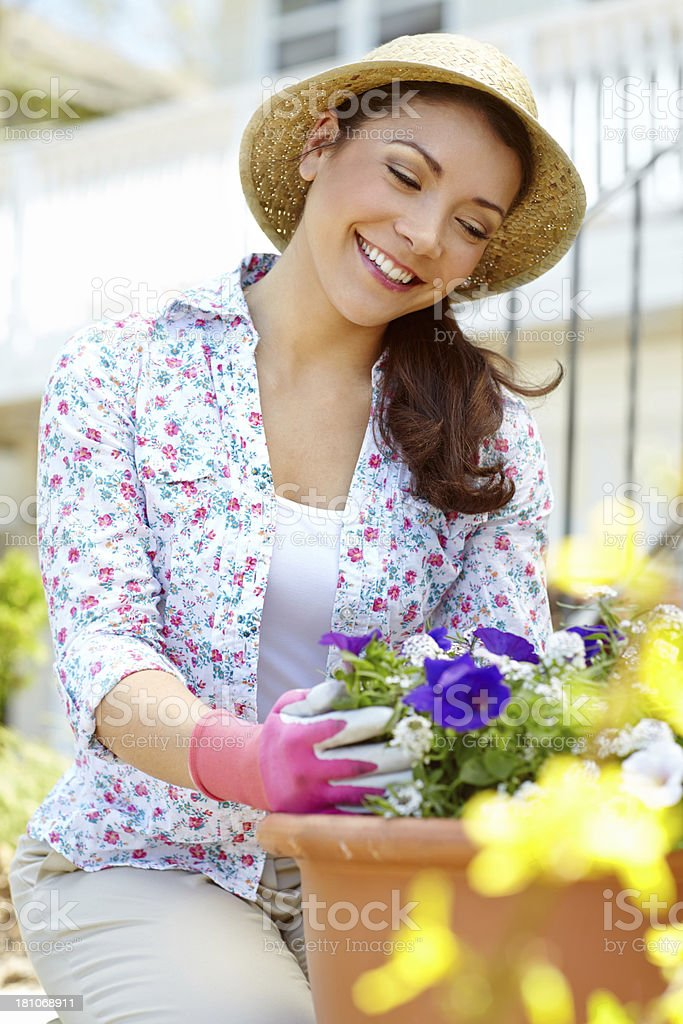 Doing some gardening royalty-free stock photo