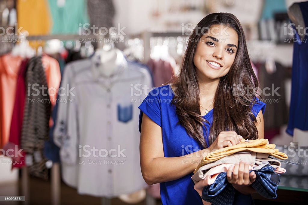 Doing some shopping at the mall royalty-free stock photo
