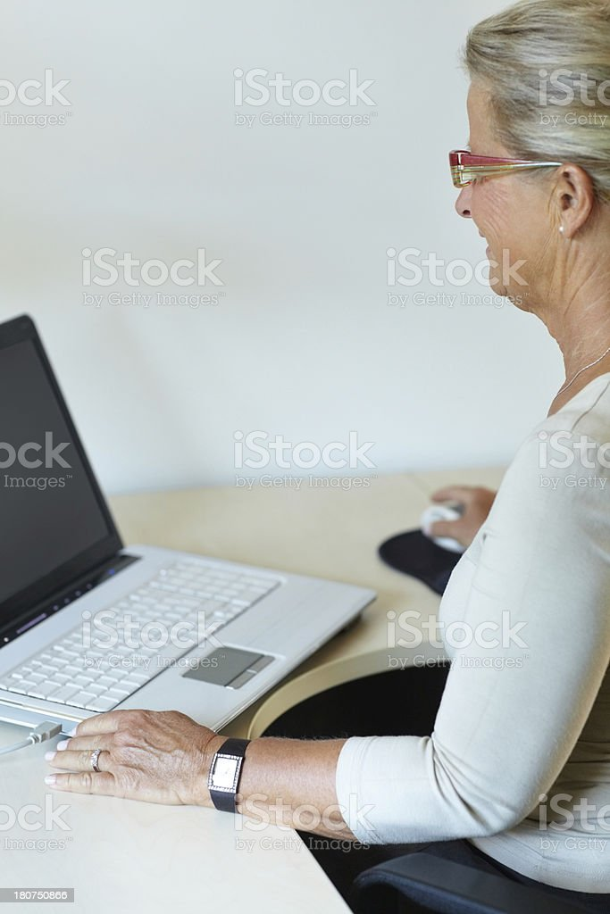 Doing some web-browsing royalty-free stock photo
