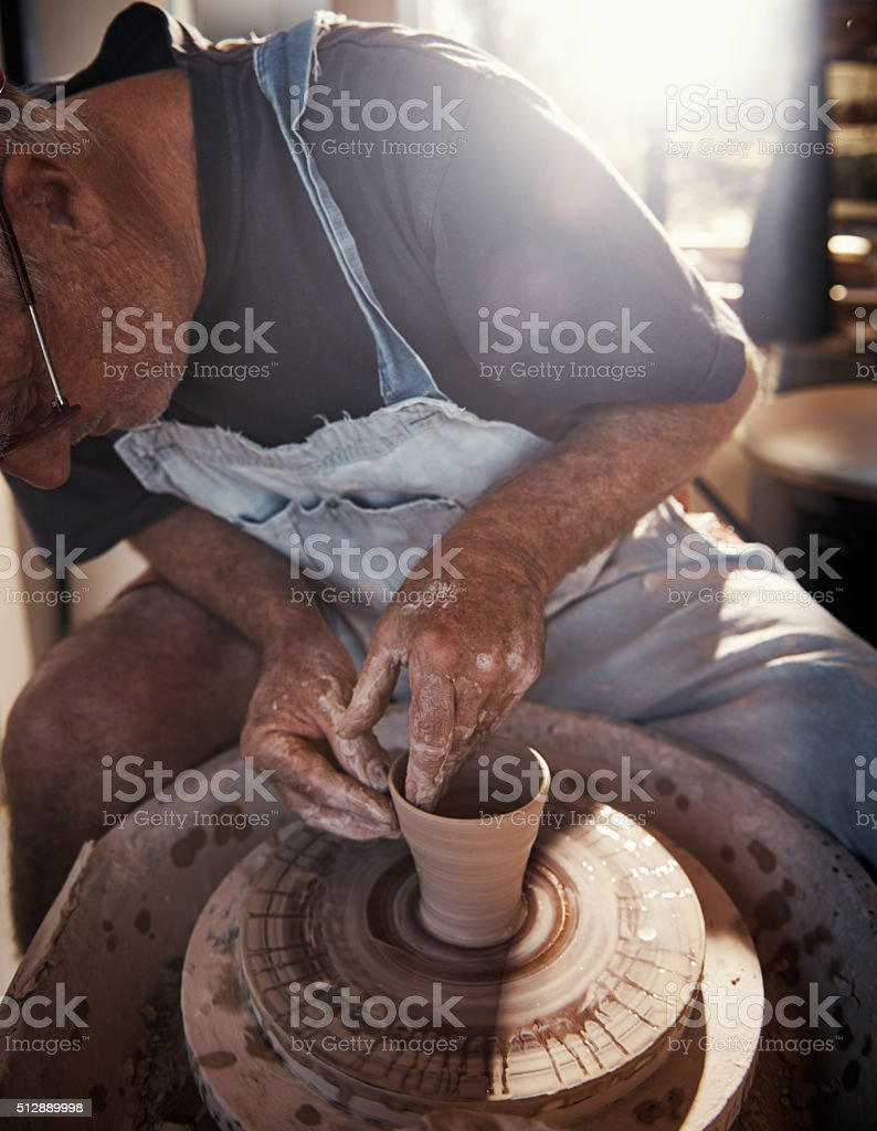 Doing something creative with your hands is healing energy stock photo