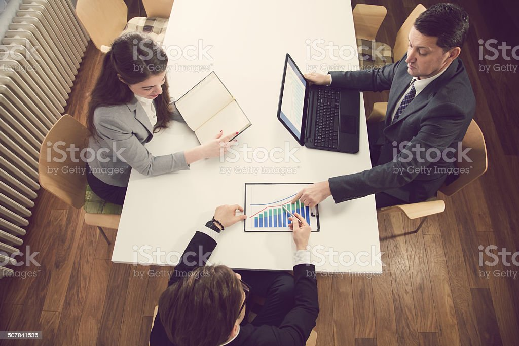Doing Statistical Research stock photo