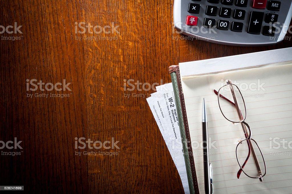 Doing Taxes. Accountant. stock photo