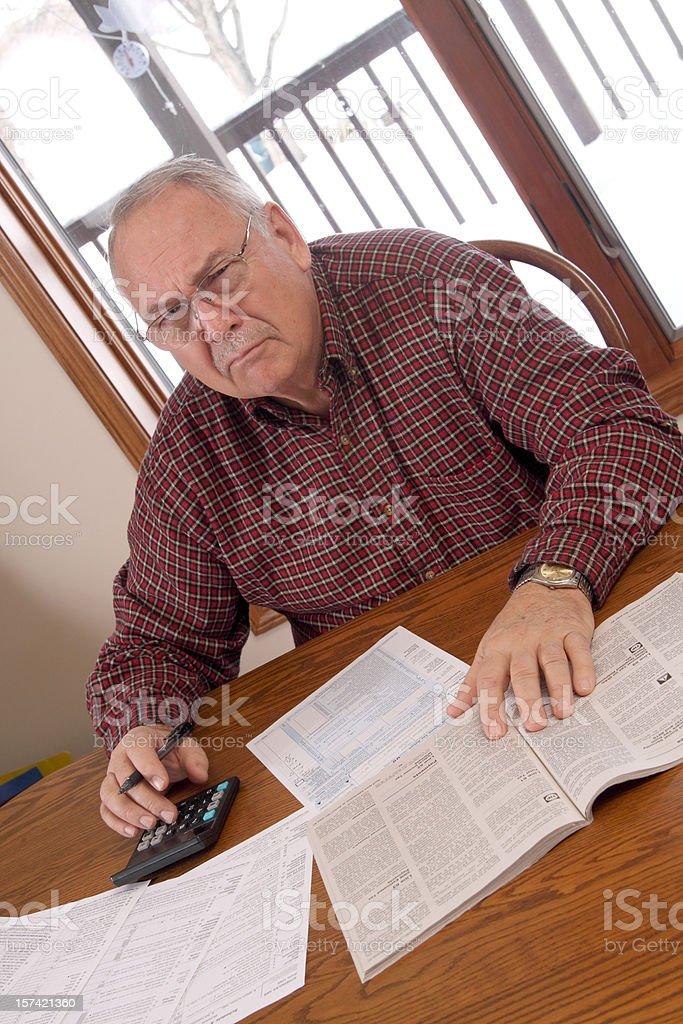 Doing Taxes royalty-free stock photo