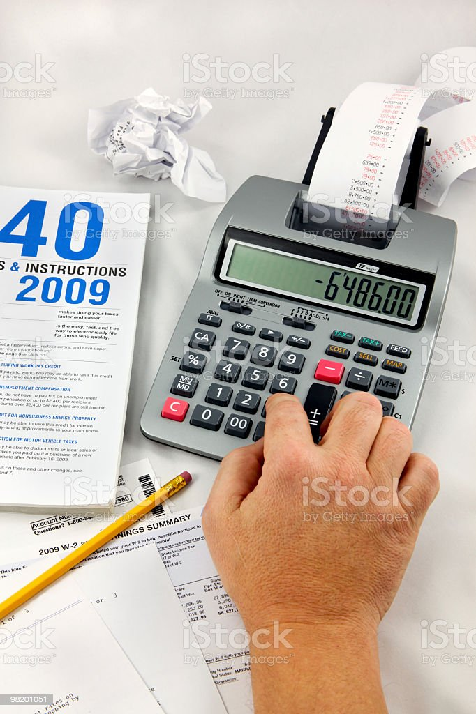 Doing Taxes! stock photo
