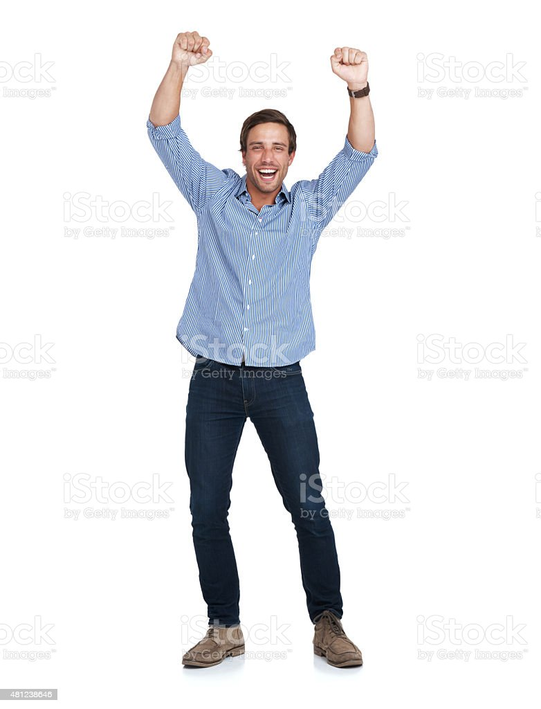 Doing the happy dance stock photo