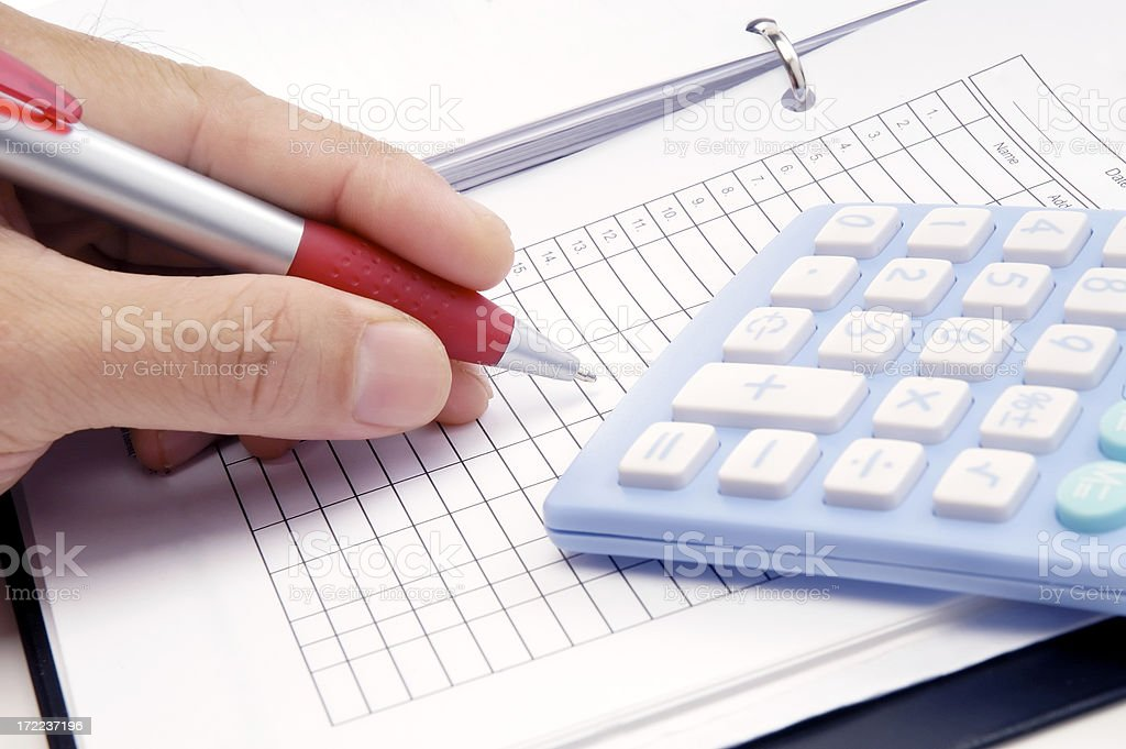 Doing the maths royalty-free stock photo