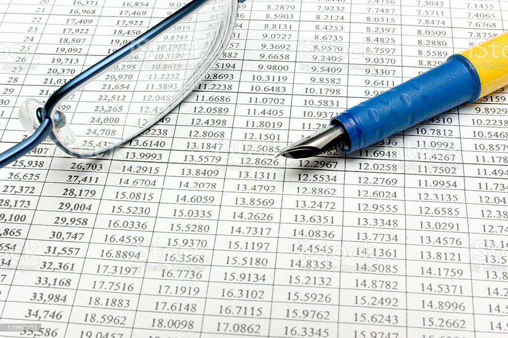 Doing the Numbers royalty-free stock photo