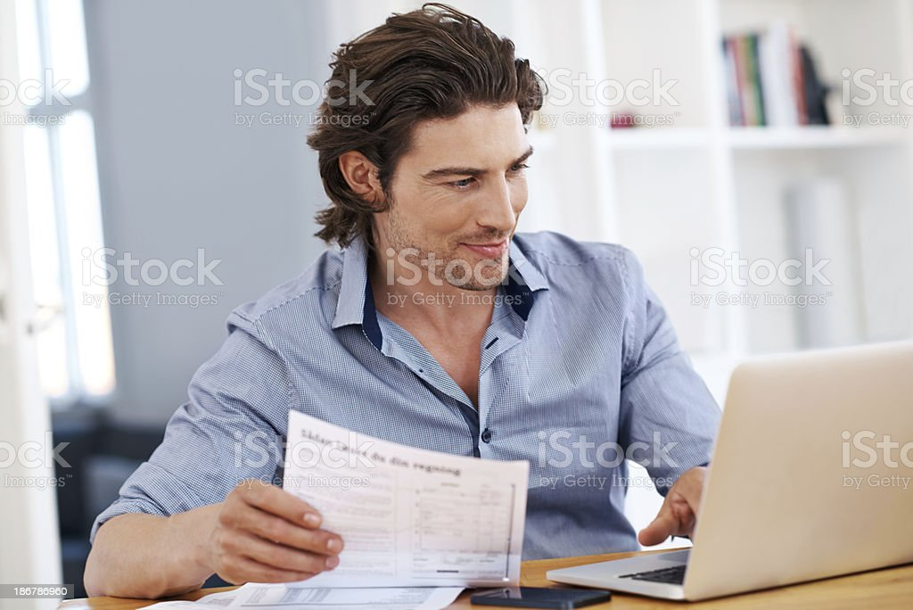 Doing the paperwork royalty-free stock photo