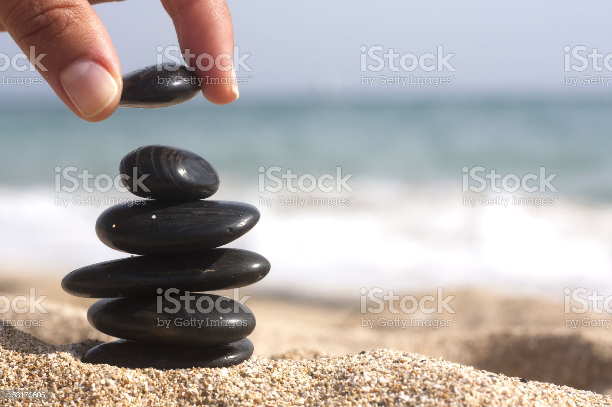 doing the pyramid royalty-free stock photo