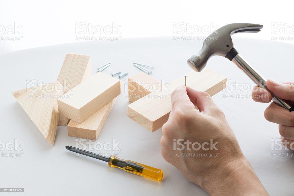 Do-it-yourself carpentering stock photo
