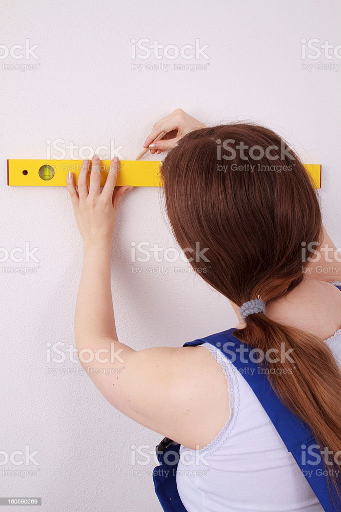 Do-it-yourselfer royalty-free stock photo