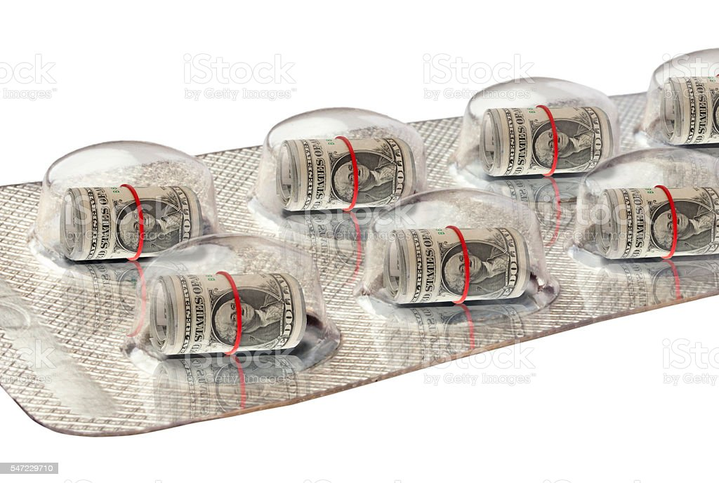 Dolares in a  Blister Pack stock photo