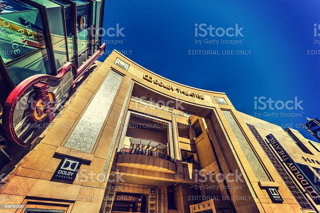 Dolby theatre and Hard Rock Cafe stock photo