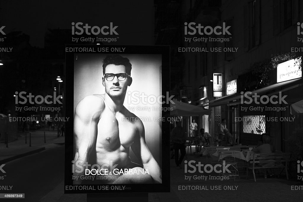 Dolce & Gabana advertisement in  Milan, Italy royalty-free stock photo