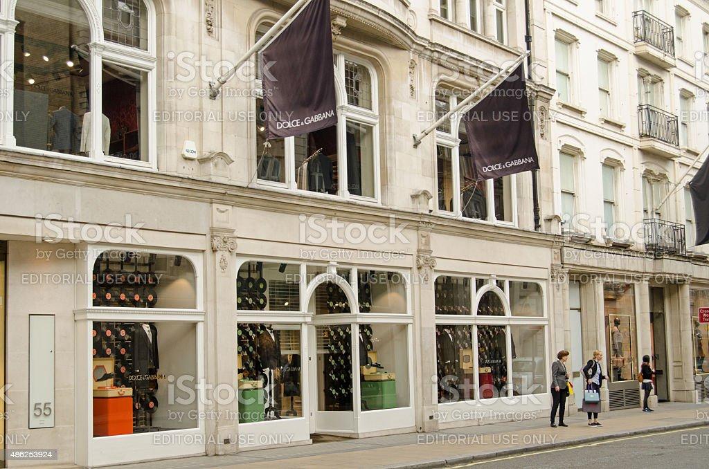 Dolce & Gabbana, New Bond Street, London stock photo