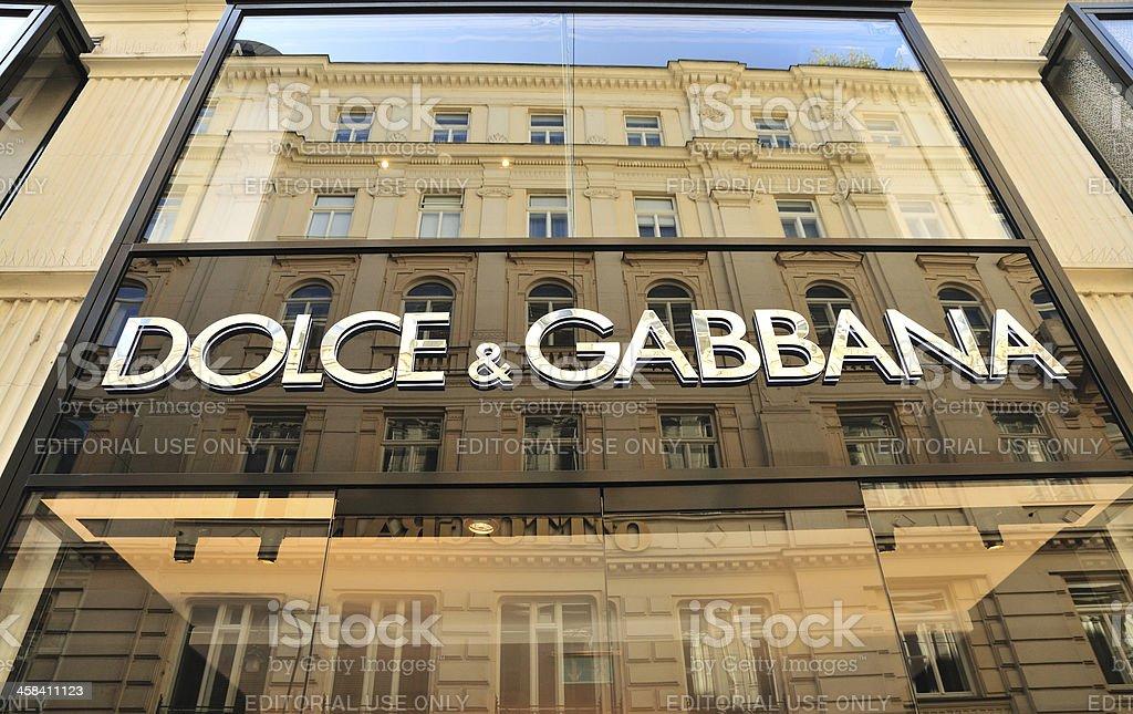 Dolce & Gabbana Store Frontage, Vienna, Austria royalty-free stock photo