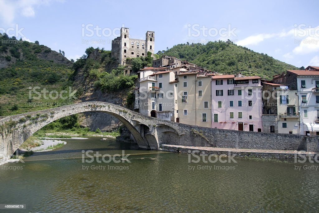 Dolceacqua. Ancient village of Italy royalty-free stock photo