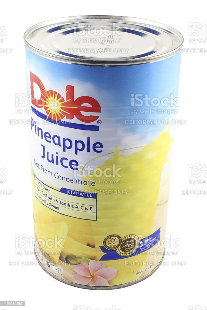 Dole Pineapple Juice royalty-free stock photo