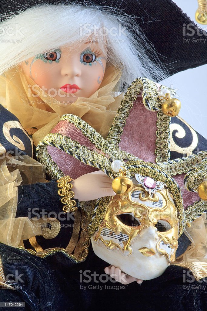 Doll and mask royalty-free stock photo