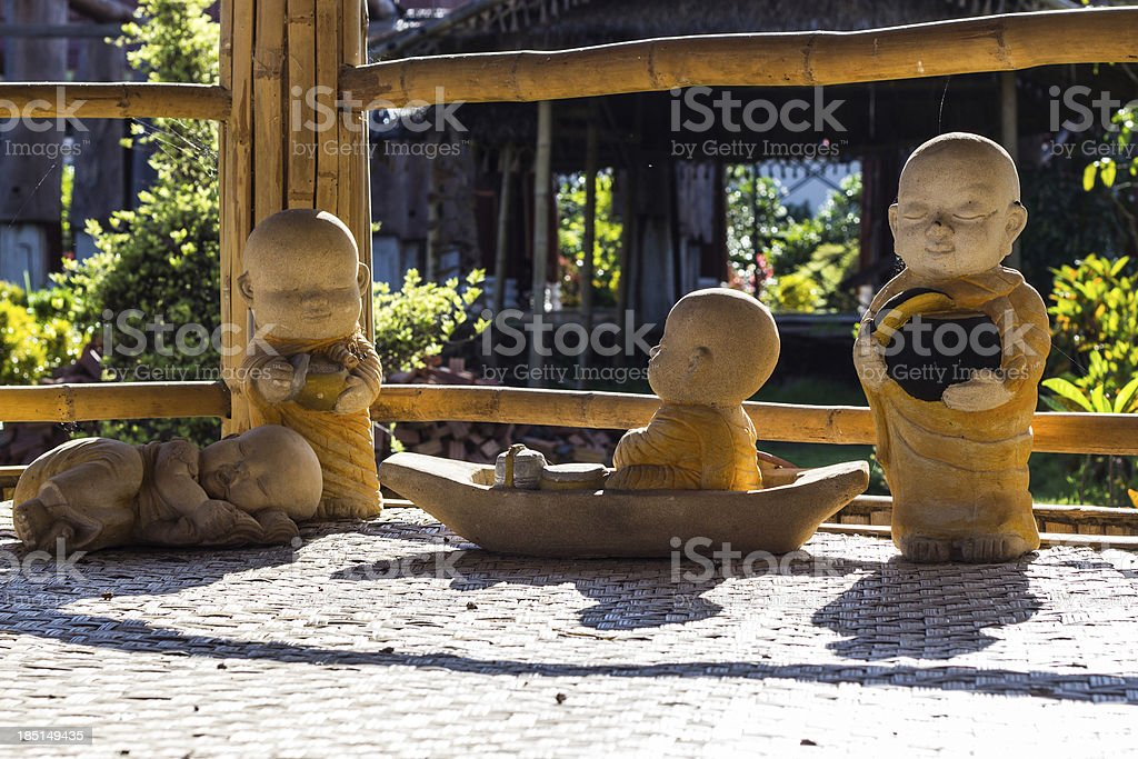 Doll clay monk used in Thailand royalty-free stock photo