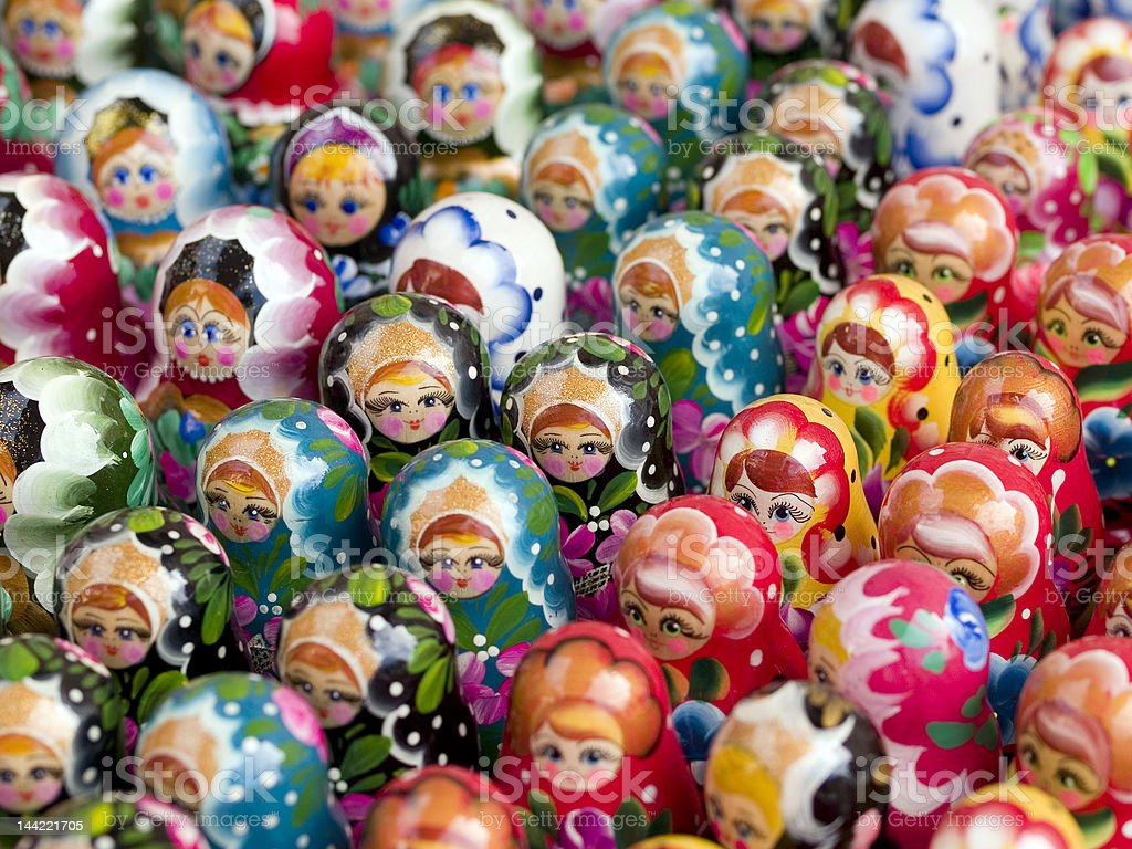Doll Crowd stock photo