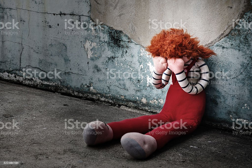 Doll Crying stock photo