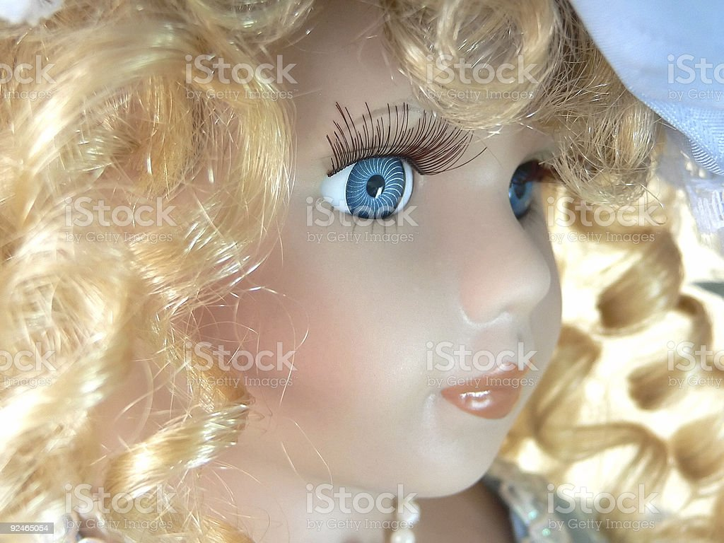 Doll face royalty-free stock photo