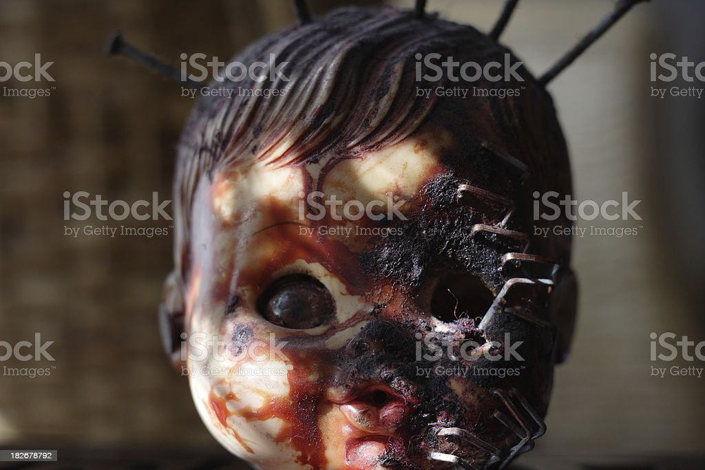 Doll horror royalty-free stock photo