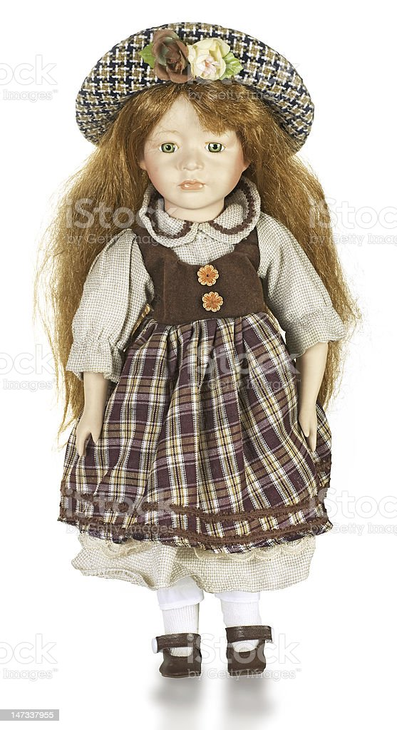 Doll in national Czech clothes stock photo