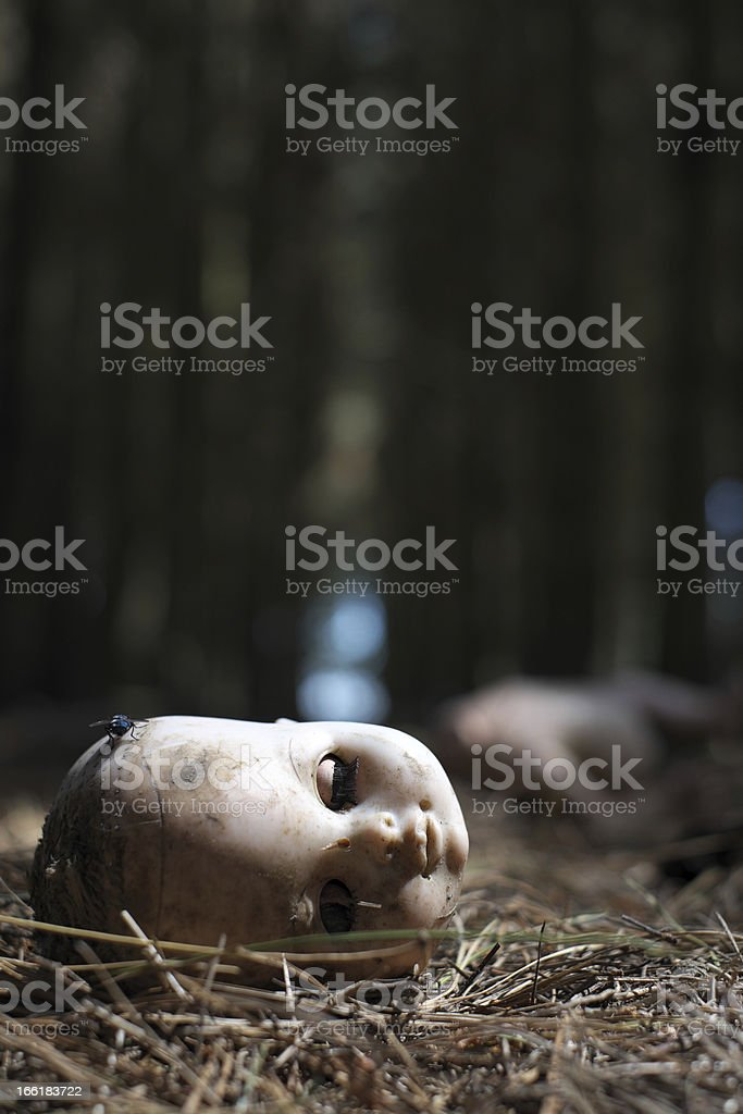 Doll In The Woods stock photo
