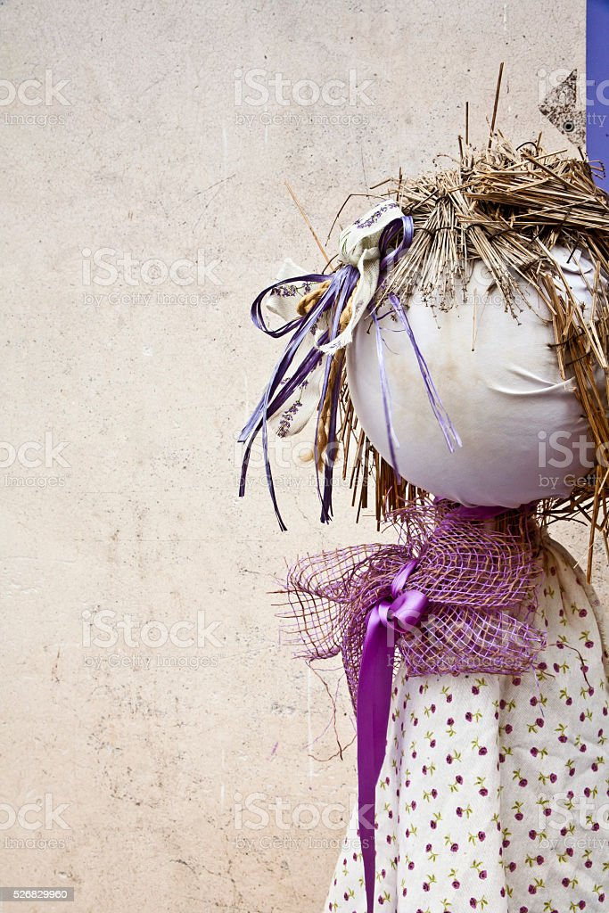 Doll made from dry lavender stock photo